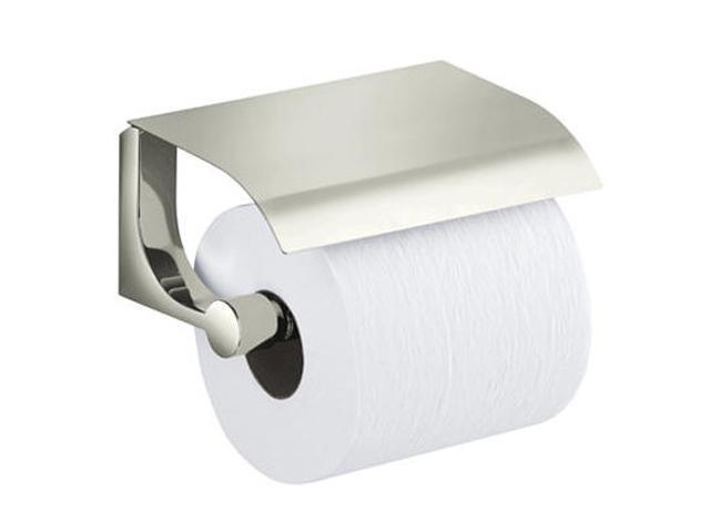 KOHLER K-11584-SN Loure Covered Toilet Tissue Holder - Vibrant Polished Nickel