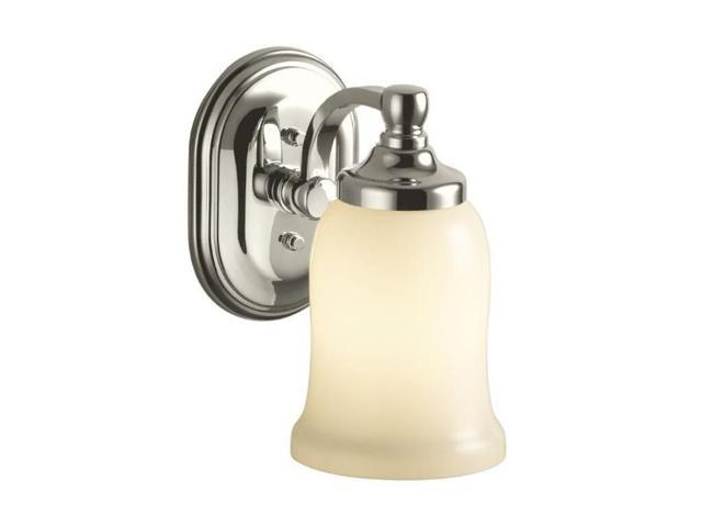 Kohler Brushed Nickel Bancroft Single Sconce - Polished Nickel