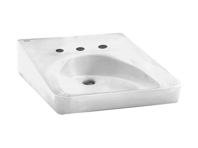 American Standard 9140.021.020 Wheelchair Users Wall-Mount Sink, 12 In. Centerset, White