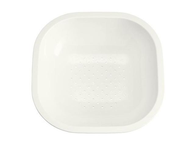 "KOHLER K-3291-0 Colander Fits 15-3/8"" Front-to-Back Basin, White"