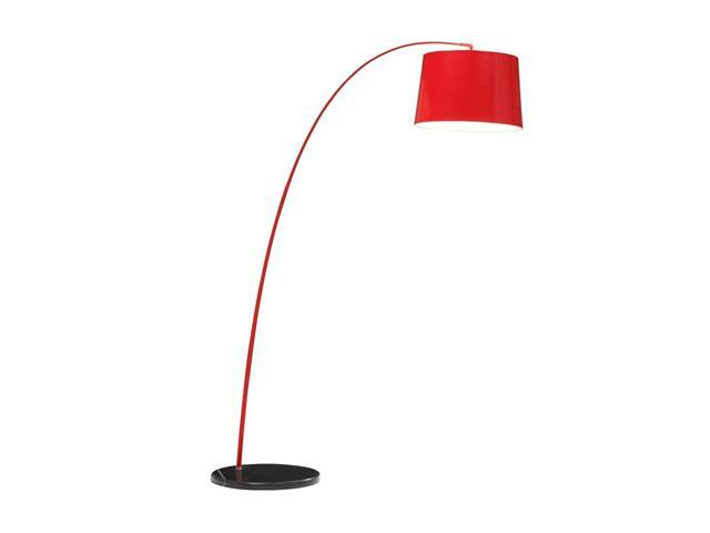 Zuo Modern Twisty Floor Lamp Red Black Newegg Com
