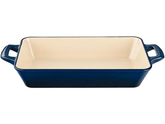 La Cuisine 14 x 9 x 3 (Large) Deep Roasting Pan with 2 Handles