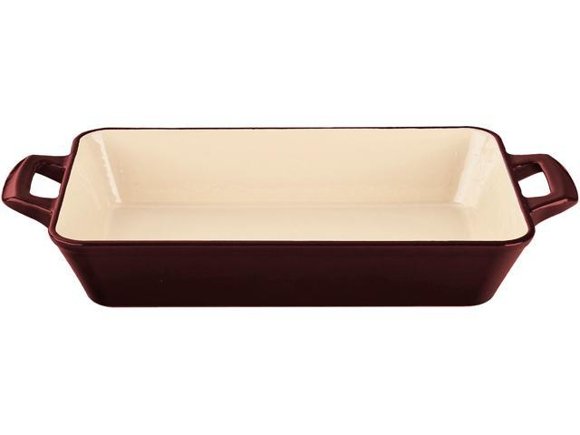 La Cuisine 14 x 9 x 3 (Large) Deep Roasting Pan with 2 Handles