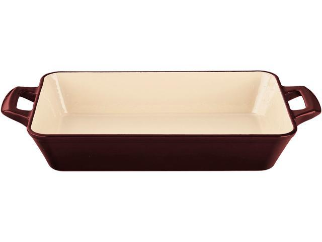 La Cuisine 11 x 7 x 2 (Small) Deep Roasting Pan with 2 Handles