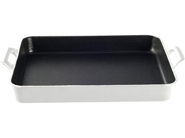 La Cuisine 13 x 10 Shallow Roasting Pan with 2 Handles