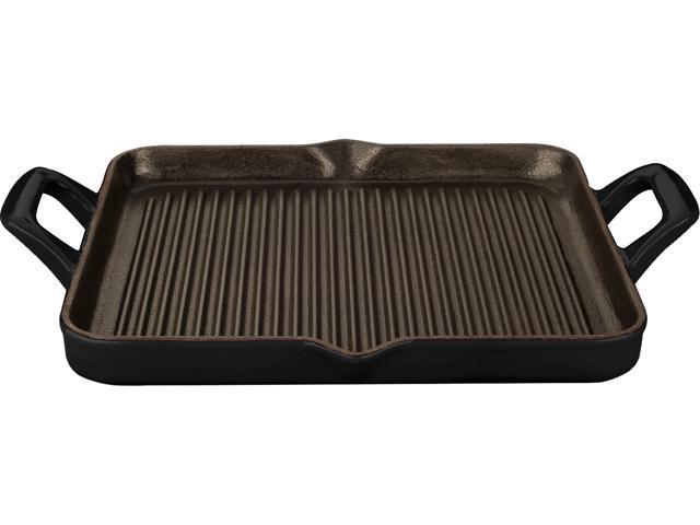 La Cuisine 11 1/2 x 10 (1 QT) Grill Pan, Cast Iron