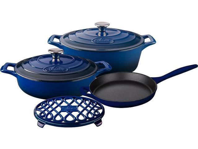 La Cuisine 6 pc set, 3.75QT Saute w/lid, 6.75QT Oval w/lid, 10