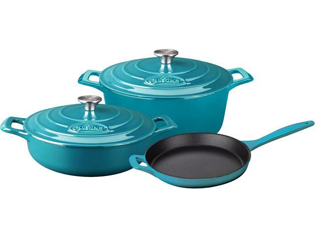 La Cuisine 5 pc set, Pro Range 3.75QT Saute w/lid, 6.5QT Round w/lid, 10
