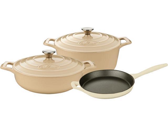 La Cuisine 5 pc set, 3.75QT Saute w/lid, 6.5QT Round w/lid, 10