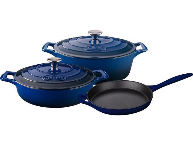 La Cuisine 5 pc set, 3.75QT Saute w/lid, 6.75QT Oval w/lid, 10