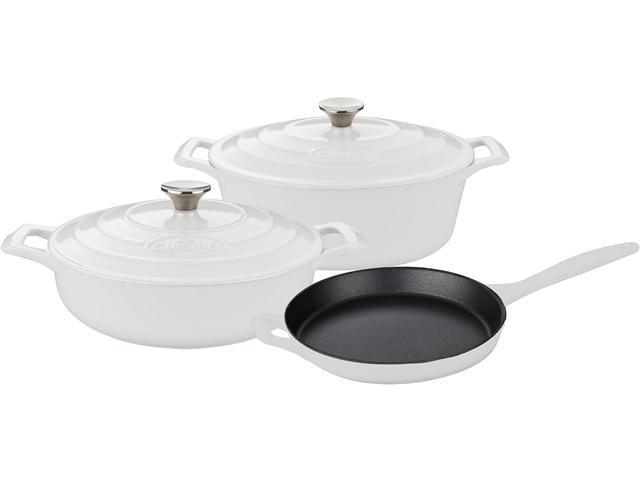 La Cuisine 5 pc set, Pro Range 3.75QT Saute w/lid, 6.75QT Oval w/lid, 10