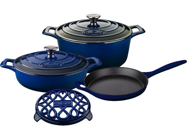 La Cuisine 6 pc set, Pro Range 3.75QT w/lid, 6.5QT Round w/lid, 10
