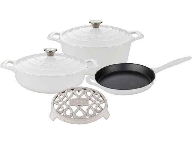 La Cuisine 6 pc set, 3.75QT Saute w/lid, 6.5QT Round w/lid, 10