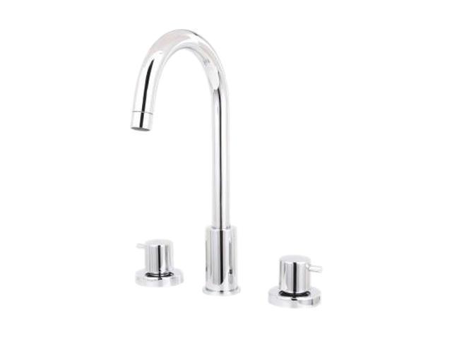 La Toscana 78CR214 Elba 8-Inch Widespread Lavatory Faucet with Metal Pop-Up Drain