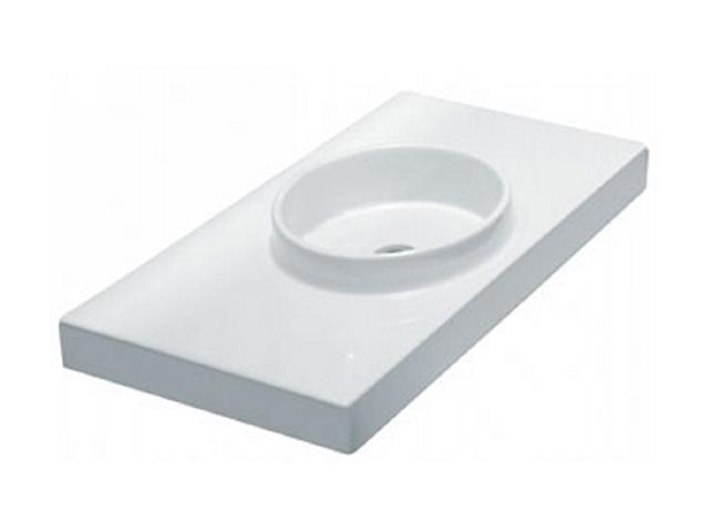 L1170 Planet 85 Above Counter Or Wall Mount Lavatory with Overflow, White Finish