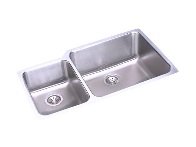 Elkay ELUH3520L Gourmet Lustertone Undermount Sink, Stainless Steel