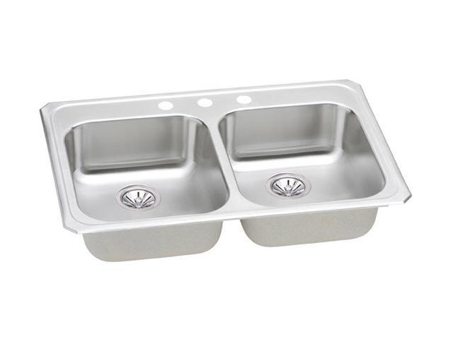 Elkay GECR33213 Gourmet Celebrity Sink, Stainless Steel