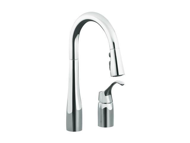 Kohler K 649 Cp Simplice Pull Down Secondary Sink Faucet Polished Chrome Kitchen Faucet