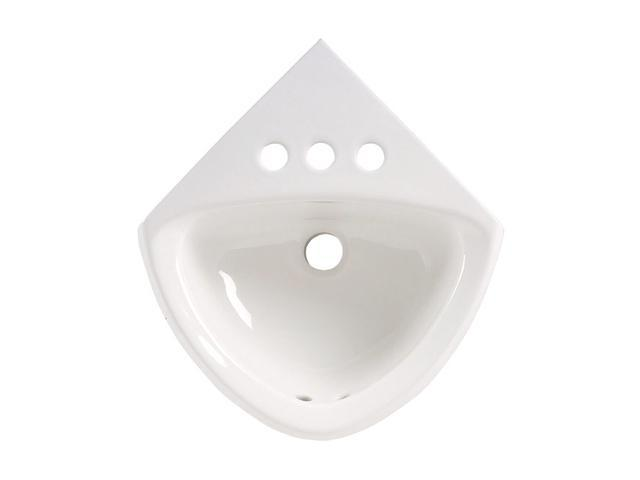 American Standard 0451.021.020 Corner Minette Wall-Mount Sink with Faucet Holes On 4 In. Centerset