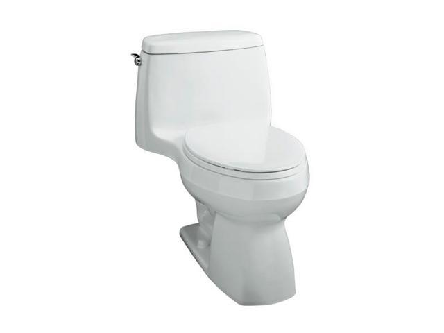 KOHLER K-3323-0 Santa Rosa Compact Elongated Toilet in White