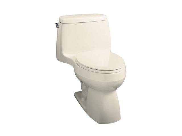 KOHLER K-3323-47 Santa Rosa Compact Elongated Toilet, Almond