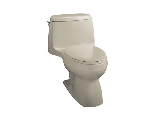 KOHLER K-3323-G9 Santa Rosa Compact Elongated Toilet, Sandbar