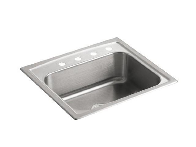 KOHLER K-3348-4-NA Toccata Single-Basin Self-Rimming Kitchen Sink