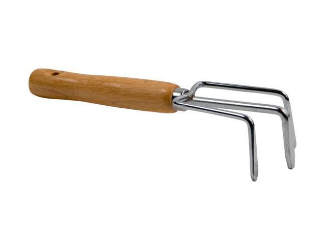 Flexrake LRB29A Hand Cultivator w/Chrome Plated Head & Contoured Wood Handle