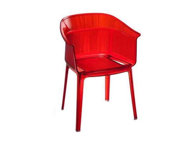 Zuo Modern Set of 4 Allsorts Dining Chair Transparent Red