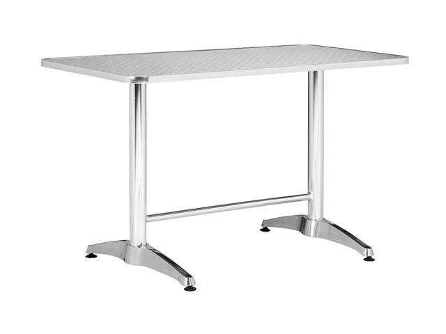 Zuo Modern Vaux Rectangular Table Aluminum
