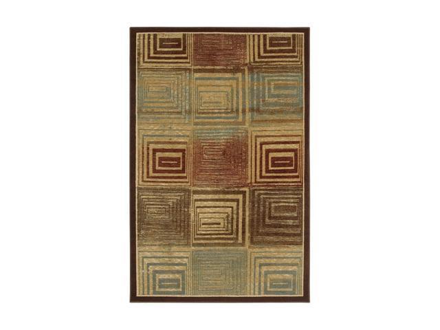 "Mohawk Home New Wave Corbin Chocolate 60"" x 96"" Rug Ivory 5' x 8' 10799 460 060096"