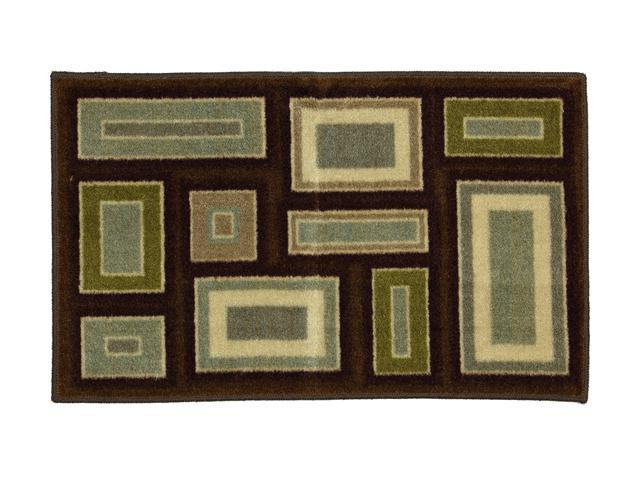 "Mohawk Home New Wave Carlsbad Dark Chocolate 24"" x 60"" Rug Brown 3' x 5' 10867 472 024060"