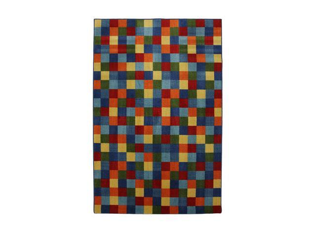 "Mohawk Home New Wave Mirage Kaleidoscope 60"" x 96"" Rug Blue 5' x 8' 10911 473 060096"