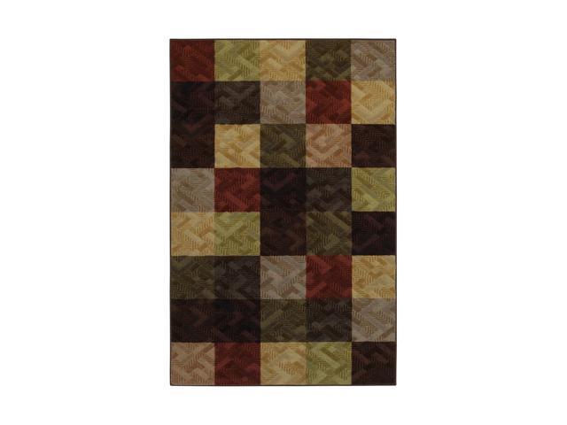 "Mohawk Home Tetris Louisville Brick 60"" x 96"" Rug Light Olive 5' x 8' 10938 436 060096"