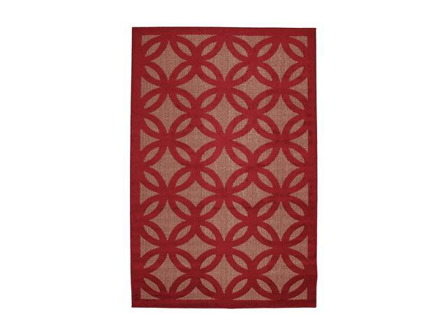 Mohawk Home Easy Living Roundelay Crimson/Metallic 60