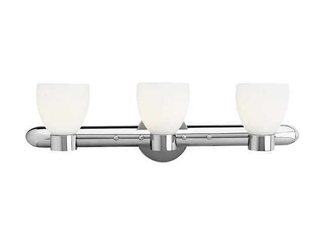 Access Lighting Frisco Wall & Vanity - 3 Light Chrome Finish w/ Opal Glass Bathroom Lighting