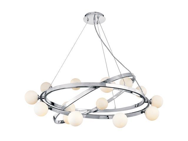 Access Lighting Nitrogen Cable Articulating Chandelier - 14 Light Chrome Finish w/ Opal Glass Chrome 23980-CH/OPL