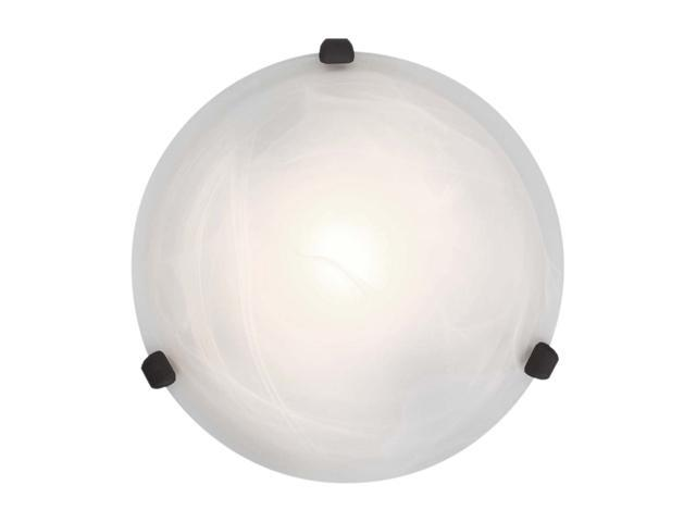 Access Lighting Nimbus Flush - 1 Light Rust Finish w/ Alabaster Glass Rust Flush Mounts Lighting
