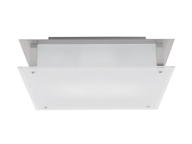 Access Lighting Vision Flush - 2 Light Brushed Steel Finish w/ Frosted Glass Brushed Steel Flush Mounts Lighting