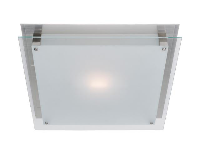 Access Lighting Vision Wall Fixture/Flush - 1 Light Brushed Steel Finish w/ Frosted Glass
