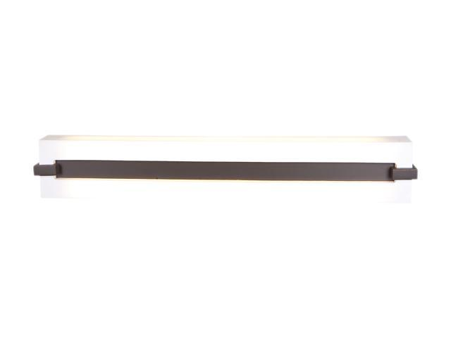 Access Lighting Sierra Wall or Vanity Fixture - 2 Light Brushed Steel Finish w/ Acrylic Glass