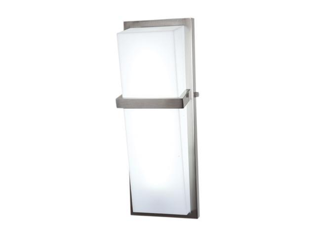Access Lighting Sierra Wall or Vanity Fixture - 1 Light Brushed Steel Finish w/ Acrylic Glass