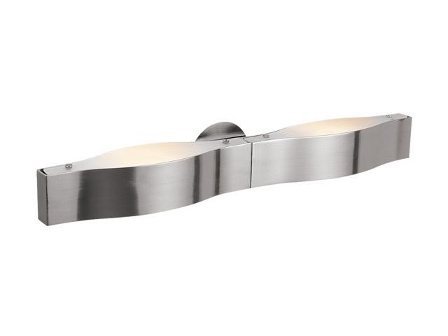 Access Lighting Titanium Wall & Vanity - 3 Light Brushed Steel Finish w/ Frosted Glass Brushed Steel Bathroom Lighting