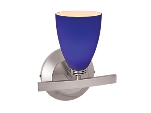 Blue Glass Vanity Light : Access Lighting Sydney Wall & Vanity - 1 Light Matte Chrome Finish w/ Cobalt Blue Glass Matte ...