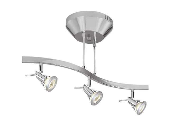 Access Lighting Versahl Spotlight Semi - 3 Light Matte Chrome Finish Matte Chrome Semi Flush