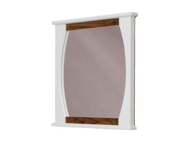 Decolav 9718-BLW 30 x 32 Natasha Wall Mirror - Black Limba White Gloss