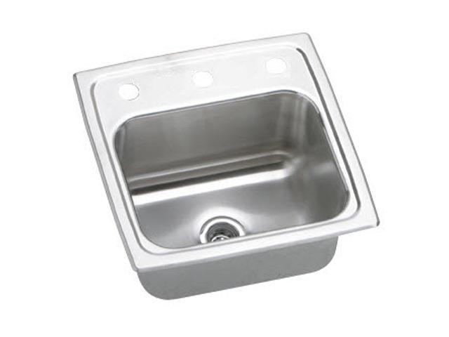 Elkay BLR153 Gourmet Top Mount Single Bowl Sink - Stainless Steel