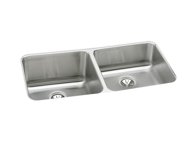 Elkay ELUH3118 Gourmet Undermount Double Bowl Sink - Stainless Steel