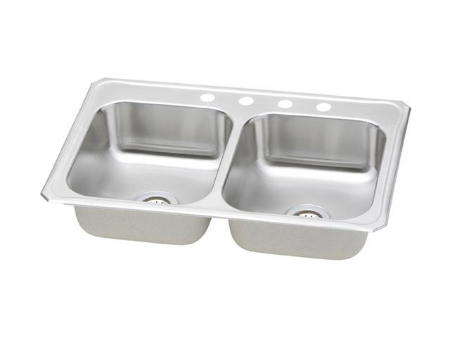 Elkay CR33214 Celebrity Top Mount Double Bowl Sink - Stainless Steel
