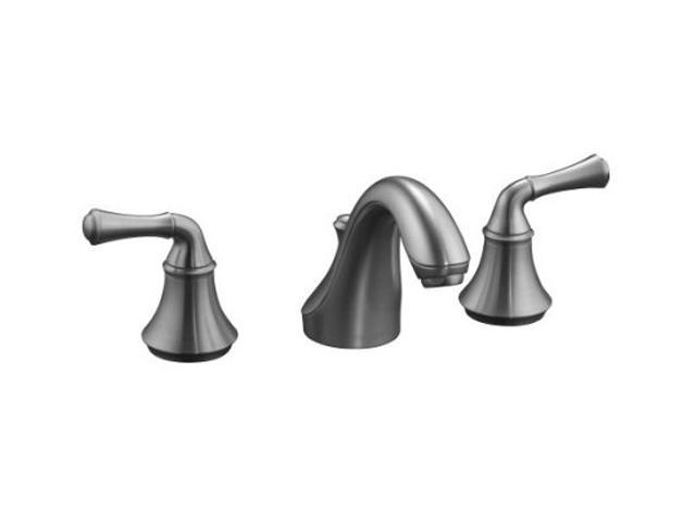 KOHLER K-10272-4A-G Forte Widespread Lavatory Faucet w/ Traditional Lever Handles
